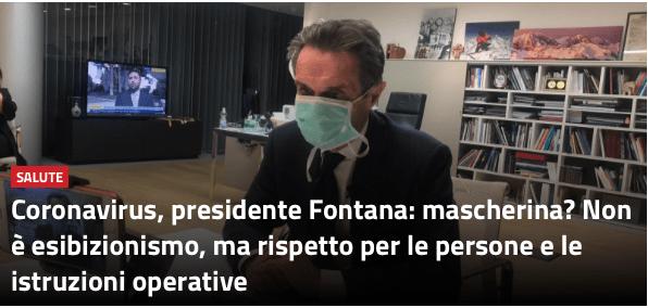 Coronavirus/PD critica Fontana perché rispetta le leggi…